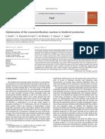 Fuel Volume 89 Issue 1 2010 [Doi 10.1016_j.fuel.2009.01.025] F. Ferella; G. Mazziotti Di Celso; I. de Michelis; V. Stanisci; -- Optimization of the Transesterification Reaction in Biodiesel Producti