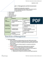 Chapter 1 Management and the Environment