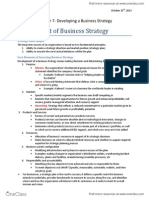 Chapter 7 Developing a Business Strategy