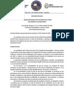 Segunda Circular Jornadas Regionales de Estudiantes de Letras.
