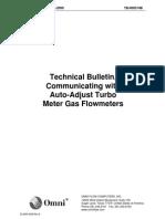Adjust Turbo Meter Gas Flowmeters000314B Communicating With Auto