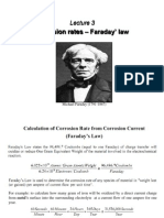 Lecture 3- Corrosion Rates – Faraday' Law