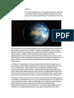 Climate Change - A Global Problem