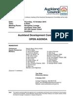 Auckland Development Committee Agenda - October 2015