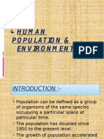 Human Population and Environment