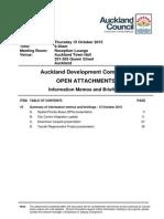 Auckland Development Committee Agenda Attachments - October 2015