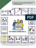 Derecho a la comunicacion - Communication Bill of Rights en castellano y con pictogramas de ARASAAC.