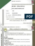 Clases de la asignatura de Diseño de Obras Hidraulicas Semana N° 01_C22015_FICA_CPyMRev1.1