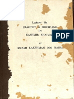 Lecture on Practice and Discipline in Kashmir Shaivism 1982 - Swami Lakshman Joo Raina
