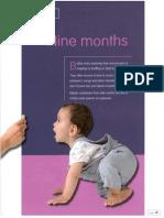 child development ch 6 nine months