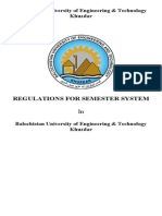 Balochistan University of Engineering and Technology Semester Rule Book