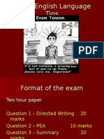 Language Exam Tips and Practise