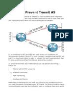BGP Prevent Transit As