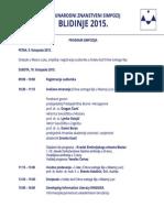 Simpozij Blidinje 2015 - Program