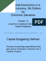 Ch14 Capital Budgeting