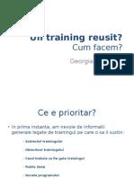 Design-ul de Training - Georgiana Cristea