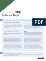 2014 IET Membership Application Guidance Notes