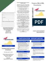 FBLA Foundation 2010 Golf Tournament Brochure