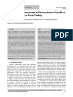Is Corporate Governance a Determinant of Auditor Choice-Evidence From Turkey