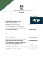 SCA Judgment - Motsoeneng vs Public Protector