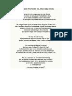 Decreto de Proteción Del Arcangel Miguel