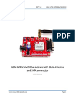 GSM GPRS SIM 900A Module With Stub Antenna and SMA Connector
