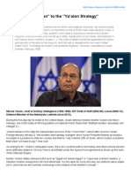 From Yinon Plan To The Ya'Alon Strategy