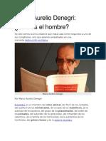 ¿Qué es el hombre? Marco Aurelio Denegri