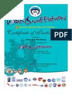 WalkWheelaton Certificate