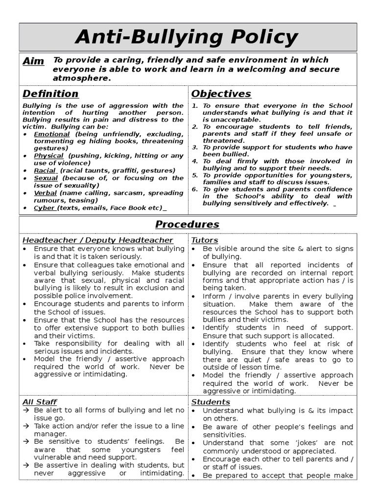 exelent anti discrimination policy template model examples