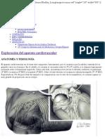 exploracion aparato cardiovascular