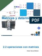 2.2 Operaciones Con Matrices