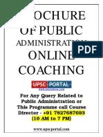 Public Administration for Civil Services Main Examination Online Coaching Brochure Www.upscportal.com
