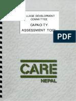 Village Development Committee - Capacity Assessment Tool