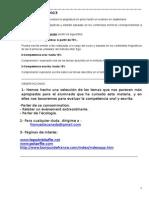 1ºBachillerato Sección Lingüística.Actividades