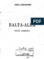 Balta Alba - Vasile Alecsandri