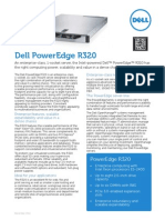 Dell PowerEdge R320 Spec Sheet