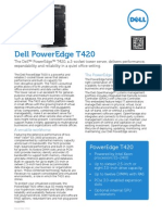 Dell PowerEdge T420 Spec Sheet
