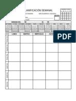 Planificador Semanal Profesores 2015 2016
