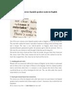 10 More Common Errors Spanish Speakers Make in English