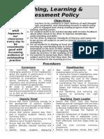 Teaching Learning & Assessment