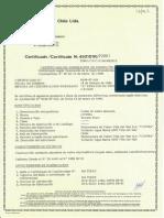 Certificado de Aprobación Cable Desnudo Temple Duro