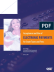 Acceptance and Use of Electronic Payments for State Taxes and Fees