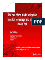 Elices_2013_Infoline - The Role of the Model Validation Function to Manage and Mitigate Model Risk