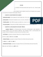 Atividade de Portugues as Silabas e Suas Classificacoes 5ºano
