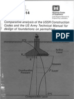 Comparative Analysis of the USSR Construction Codes and the US Army Technical Manual for Design of Foundations on Permafrost - Fish 1982