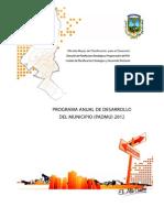 plan anual de desarrollo municipio de El Alto