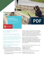 Digital Cul Ures Major Brochure 2014
