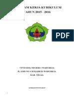 Program Bidang Kurikulum 2014-2015
