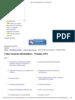 Citar Recursos Electrónicos - Normas APA